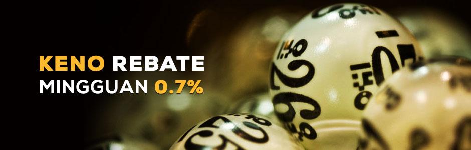 Keno Rebate Mingguan 0.7% (MAXBET)